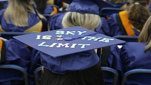sky is the limit graudation hat