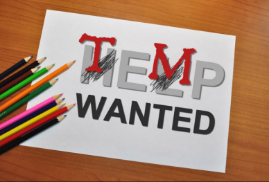 image of help wanted sign adjusted to say temp wanted
