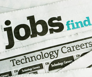 photo of the jobs classifieds sections of a newspaper