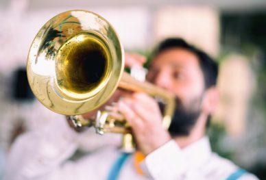 Trumpet player jazz music